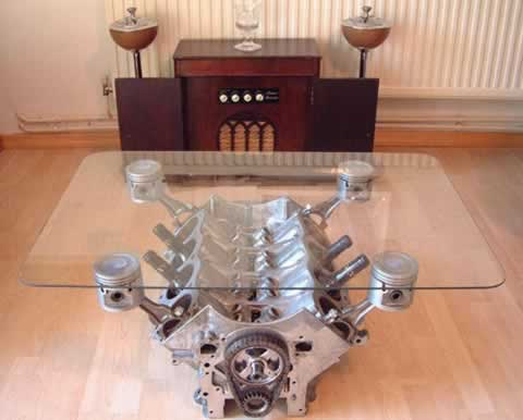 Engine Block Coffee Table. - Neatorama