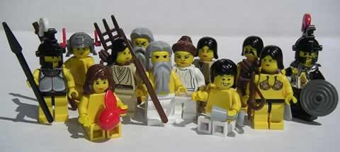 Olympian Gods and Goddesses Minifigs. - Neatorama