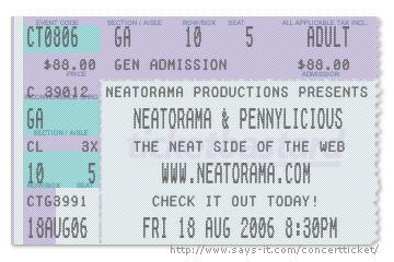 concert ticket generator neatorama