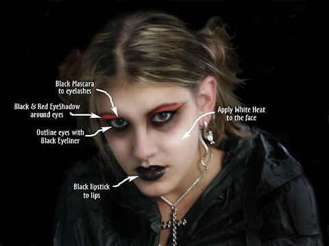 goth makeup tips. gothic makeup ideas. goth