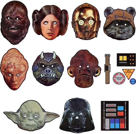 Star Wars Paper Masks Neatorama
