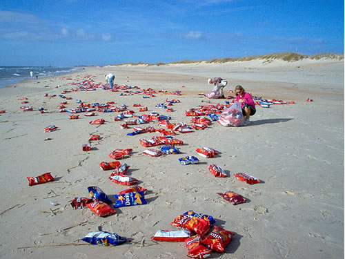 Thousands of Doritos Washed Up on North Carolina Beach.