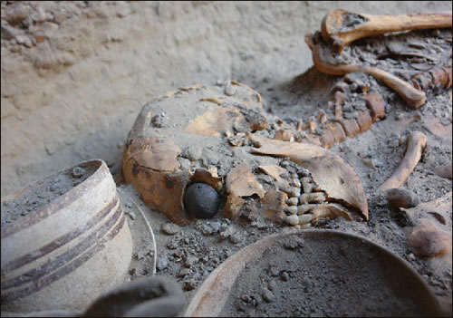 Ancient skeleton found with artificial eye