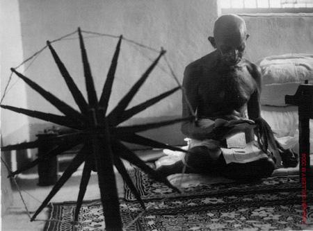 gandhi spinning wheel