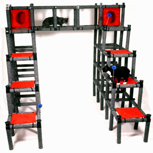 Cat castle the modular cat playground neatorama for Castle cat tower