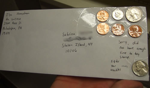 Sending Mail With Coins Instead Of Stamps Neatorama
