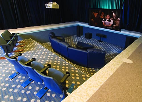 Turning an Indoor Pool into a Home Theater. - Neatorama
