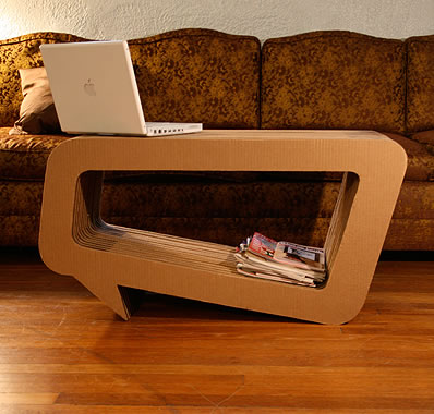 how to make a cardboard coffee table 1