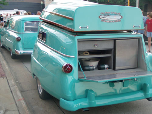 1954 Ford Delivery Wagon And Camper Boat Neatorama