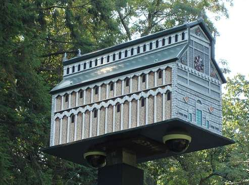 Fancy Birdhouse Is Camouflage For Security Cameras Neatorama