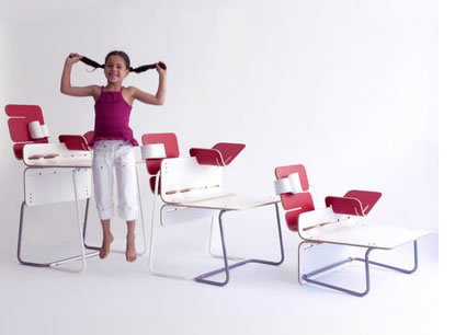 mahmoud akram designed this kidu0027s desk with three builtin sizes so as your child grows the desk grows as well