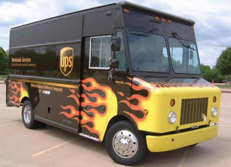 new fuel efficient ups delivery trucks are smokin 39 hot. Black Bedroom Furniture Sets. Home Design Ideas