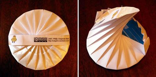 origami cd case neatorama