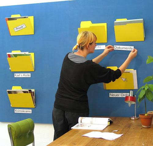 wall mounted paper folder shaped like computer desktop. Black Bedroom Furniture Sets. Home Design Ideas