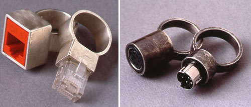 Nut And Bolt Wedding Rings