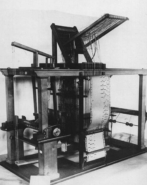 Jacquard Loom (Photo: Computer Desktop Encyclopedia)