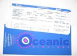 Oceanic flight boarding pass