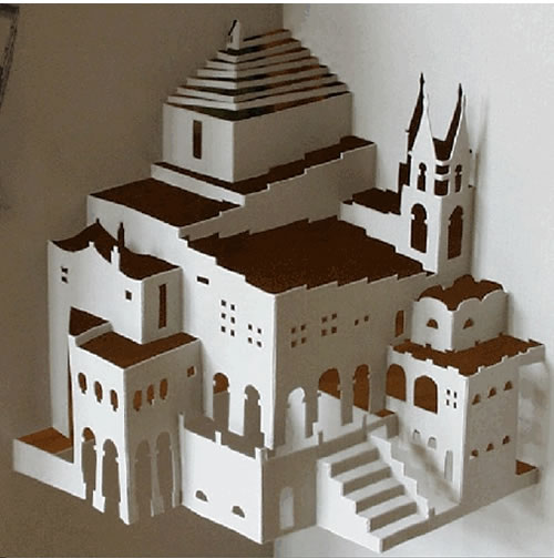 Origamic architecture stunning sculptures cut out of for Ingrid siliakus templates