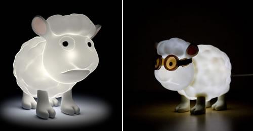 Seamour Sheep Lamp - Neatorama