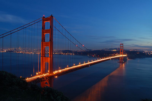 Golden gate bridge at sunset photo mischiru flickr