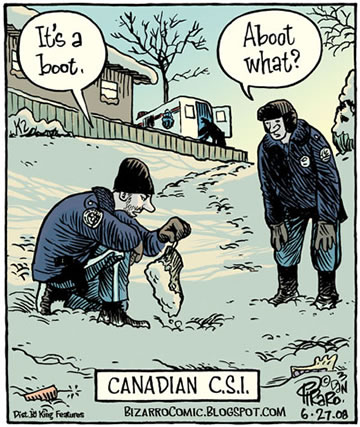 Bizarro Canadian C S I Neatorama