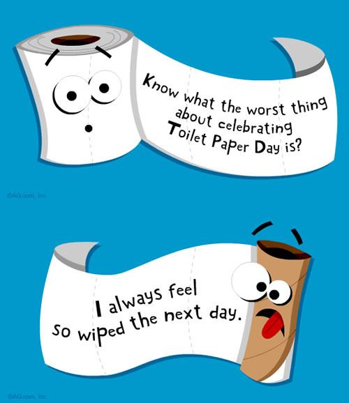Bathroom Puns Happy Toilet Paper Day  Neatorama