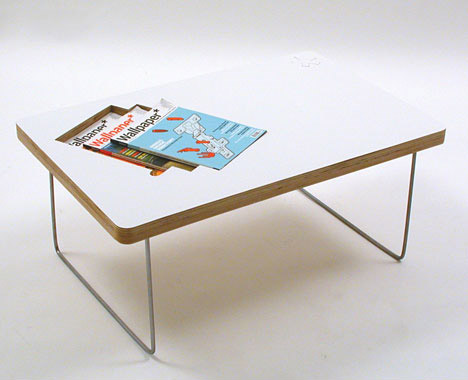 Lifestyle Coffee Table With Built In Magazine E By Sara
