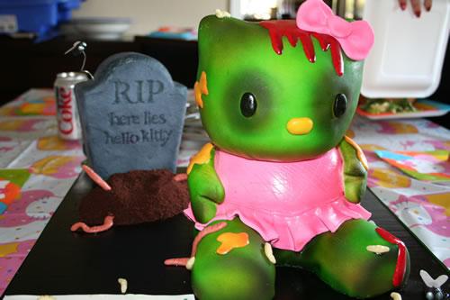 Hello Kitty Zombie Birthday Cake Neatorama