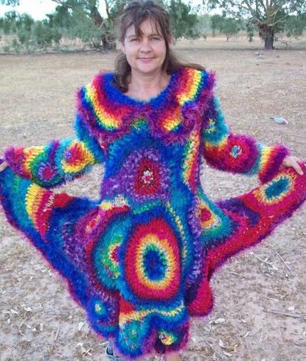 Wild Jewel Crochet Love Goddess Rainbow Sparkle Jumper