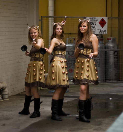 Good Halloween Ideas: The Dalek Girls: Extermination Never Looked This Good