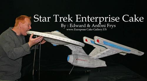 ' ' from the web at 'http://static.neatorama.com/images/2009-06/star-trek-enterprise-cake-frys.jpg'