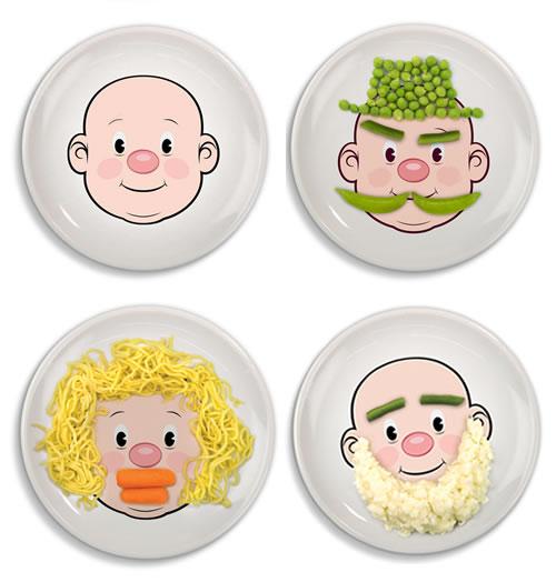 Food Face Kids Dinner Plate Neatorama