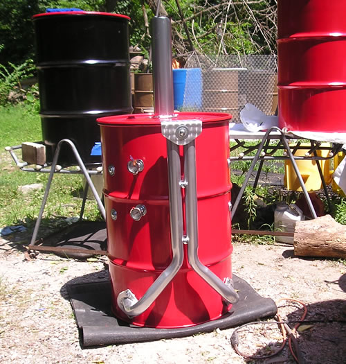 55-Gallon Drum BBQ Grill And Smoker