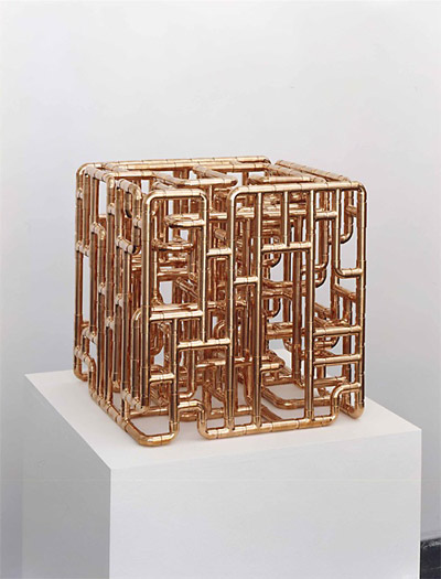 Sculpture Looks Like Borg Cube Made Out Of Plumbing