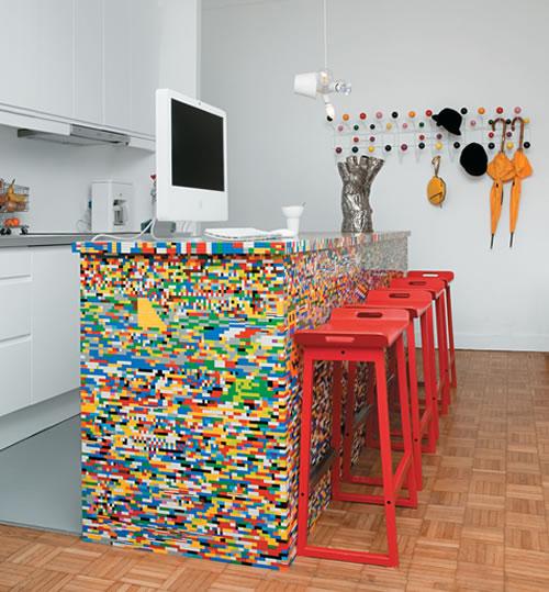 LEGO Kitchen Island - Neatorama