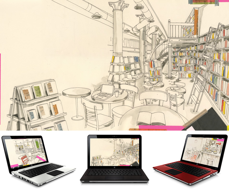 hp artist series wallpapers: hp approached me to be involved in their artist