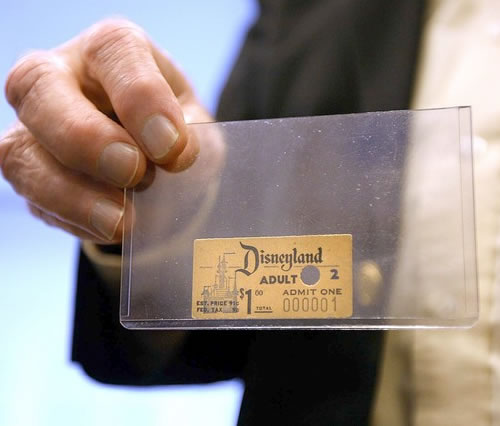 The First Disneyland Admission Ticket Ever Sold - Neatorama