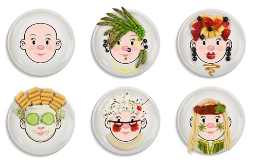 sc 1 st  Neatorama & Ms Food Face Dinner Plate: Play With Your Food! - Neatorama