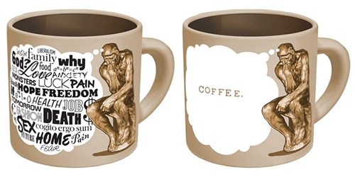the thinker coffee mug neatorama