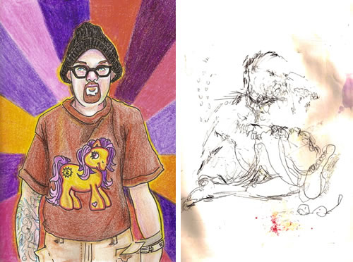 Artist Painted Self Portraits While On Various Drugs