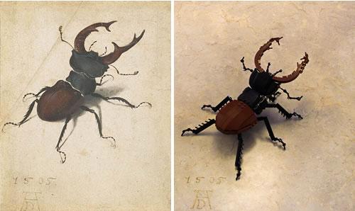 Albrecht Dürer Stag Beetle in LEGO - Neatorama Bullet Band Tattoo