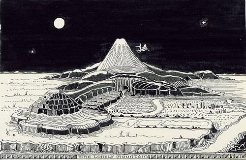 Jrr tolkien posts tolkiens the hobbit artwork spiritdancerdesigns Choice Image