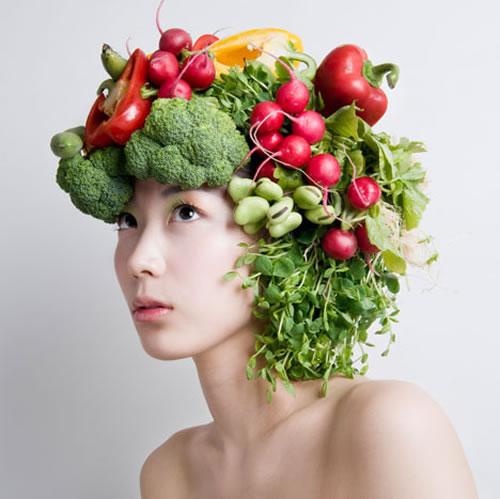 Veggie Headdress Art By Takaya Neatorama
