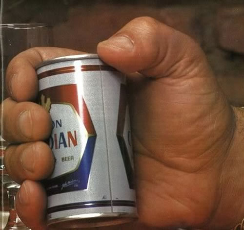 Andre The Giant Holding A Can Of Beer Neatorama