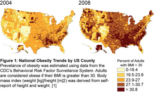 Fat And Furious The Rise Of Obesity In The USA Neatorama - Map of obesity in the us