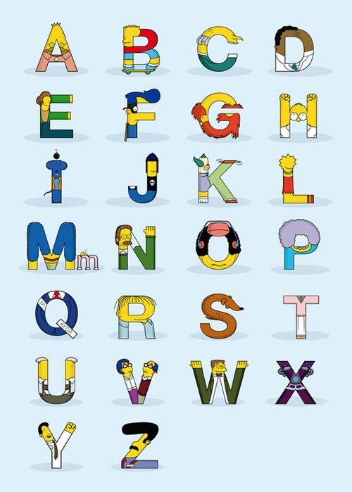 Simphabet: The Simpsons Alphabet - Neatorama