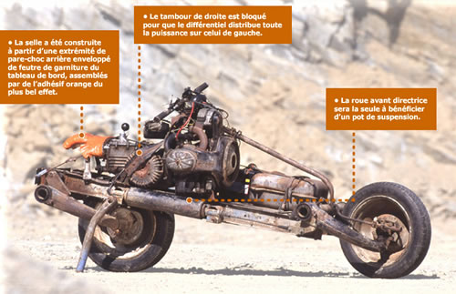 Real Life Mad Max Built Motorcycle From Car That Broke