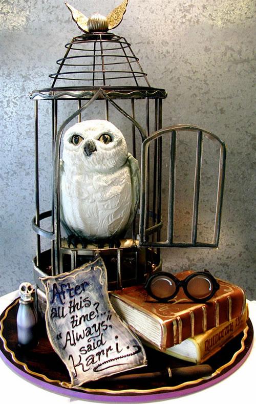 Harry Potter Hedwig Cake - Neatorama