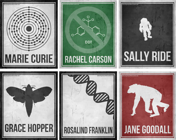 Minimalist Classroom History ~ Women scientists posters minimalist of six
