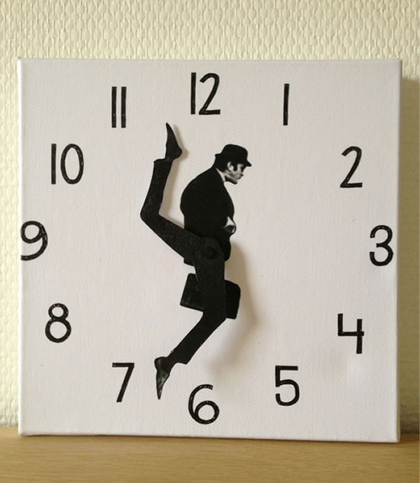 The ministry of silly walks clock neatorama
